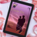 eReader with cover of Carry On showing on it, on a bed of pale pink rose petals.